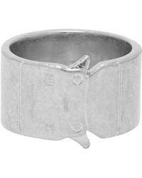 1017 ALYX 9SM Silver Buckle Ring - Metallic