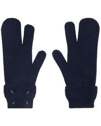 Maison Margiela Navy Tabi Gloves - Blue