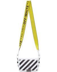 Off-White c/o Virgil Abloh - White Mini Diagonal Flap Bag - Lyst