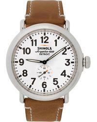 Shinola シルバー And ホワイト The Runwell 47mm ウォッチ