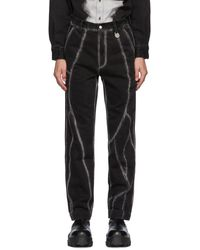 Xander Zhou Black Stripes Jeans