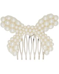 Simone Rocha - Imitation Pearl Bow Hair Comb - Lyst