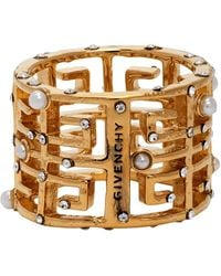 Givenchy Gold Pearl 4g Ring - Metallic