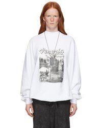 Balenciaga ホワイト Venezia スウェットシャツ