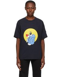 Moncler Genius 1 Moncler Jw Anderson Navy Looney Tunes Edition Sylvester T-shirt - Blue