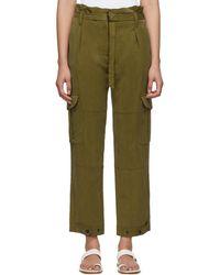 Rag & Bone - Pantalon cargo vert Tilda - Lyst