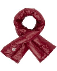 Moncler - Red Down Scarf - Lyst