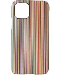 Paul Smith マルチカラー シグネチャ ストライプ Iphone 11 Pro ケース