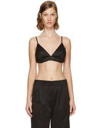 38113f761181b Givenchy - Black Neoprene Logo Bra - Lyst