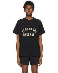 Fear Of God ブラック Baseball T シャツ