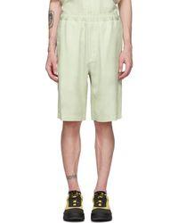 Our Legacy White Silky Drape Shorts