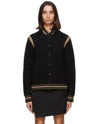 Givenchy ブラック And タン ウール ボンバー ジャケット