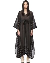 Visvim Black Kaftan Dots Dress