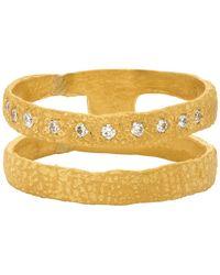 Elhanati Gold Graphic Nude Lux One Ring - Metallic