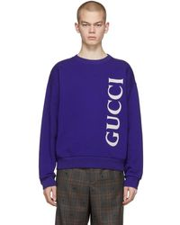 Gucci - ブルー ロゴ スウェットシャツ - Lyst