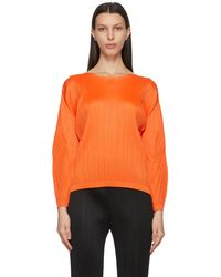 Pleats Please Issey Miyake Monthly Colours January Jumper - Orange