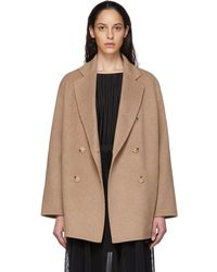 Acne Studios Tan Odine Coat - Natural