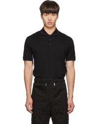 Givenchy - ブラック スリム フィット ロゴ ポロ - Lyst