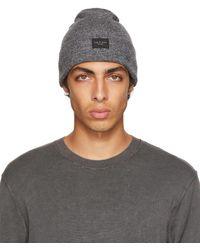 Rag & Bone Addison Beanie Wool Hat - Grey