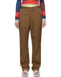 Ambush - Brown Nobo Trousers - Lyst