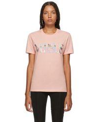 Versus - Pink Metallic Logo T-shirt - Lyst