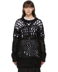 Junya Watanabe - ブラック ウール Open Knit セーター - Lyst
