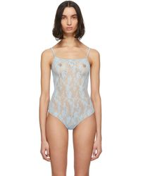 Wolford Blue Katherina String Bodysuit
