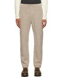 Rag & Bone Pantalon de survêtement blanc cassé en laine mérinos sans teinture - Multicolore