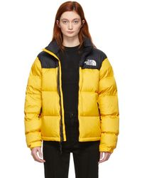 The North Face - Yellow Down 1996 Retro Nuptse Jacket - Lyst