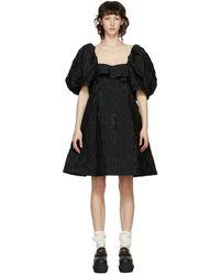 Simone Rocha - ブラック フローラル ビスチェ ドレス - Lyst