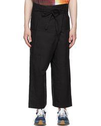 Loewe Paula's Ibiza コレクション ブラック カーゴ パンツ
