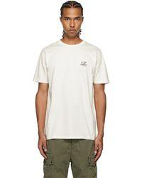 C.P. Company ホワイト ロゴ T シャツ