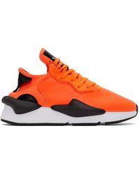 Y-3 Baskets orange et noires Kaiwa