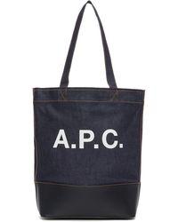 A.P.C. - インディゴ デニム Axelle トート - Lyst