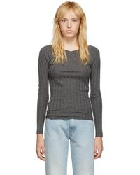 c5a33f18190 Totême Biella Oversized Knitted Sweater in Natural - Lyst