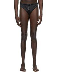 Givenchy Maillot de bain à logo noir