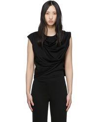 Lemaire ブラック スカーフ T シャツ