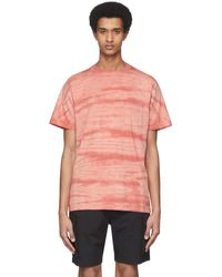 Saturdays NYC Red Randall Mineral Wash T-shirt - Multicolour
