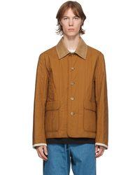 Lanvin リバーシブル ブラウン キルティング シャツ ジャケット