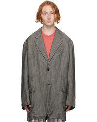 Acne Studios グレー Soft Suit ジャケット