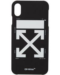 Off-White c/o Virgil Abloh Etui pour iPhone Max noir et blanc Arrow