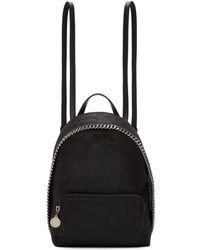 Stella McCartney - Sac a dos noir Mini Falabella - Lyst