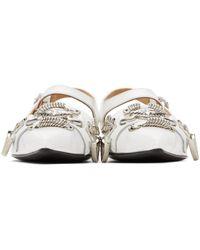 Toga Polido Slingback Ballerina Flats - White