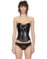 Kiki de Montparnasse Black Patent Leather Corset