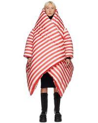 Sunnei レッド Stripes Puffy Kimono コート