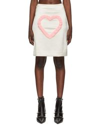 Ashley Williams Satin Love Me Skirt - White