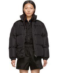 Prada Black Down Belt Bag Coat