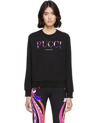 Emilio Pucci - ブラック ロゴ スウェットシャツ - Lyst