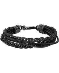 Emanuele Bicocchi - Black Braided Bracelet - Lyst