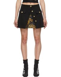 Versace Jeans Couture ブラック ミニスカート